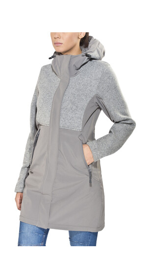 Bergans Flora Hybrid Coat Lady Solid Grey
